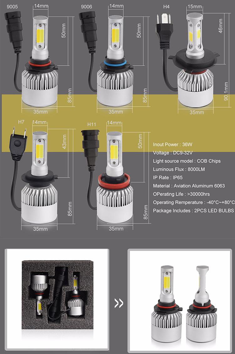 New Arrival Auto Lights LED H4 Headlight Lamp For Cars,led headlight