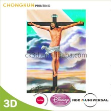 Custom 3D Wall Painting Jesus Christ, Vigirn Mary, Cross