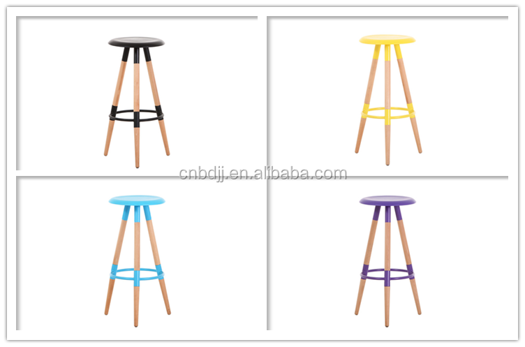 Wood bar stool supplier bar chair with footrest bar stool chair