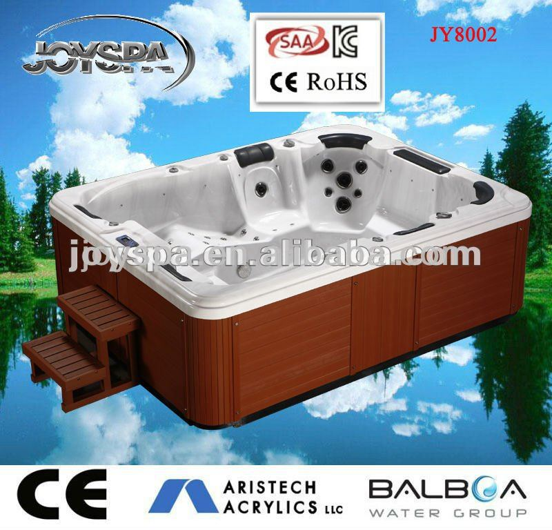 CE luxury bubble powerful stainless steel jets massage hot tub