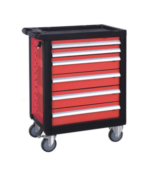 New Design 6 Drawer Steel Cheap Steel Tool Box Red Garage Tool Cabinets