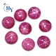 Gemstones wholesale china 6.0mm round cabochon cut synthetic star ruby