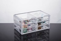 High Quality Transparent Plastic Cosmetics / Jewelry Storage Organizer ,6 Drawer