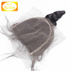 Fast delivery stock natural color loose wave brazilian hair swiss lace 5x5 lace closures