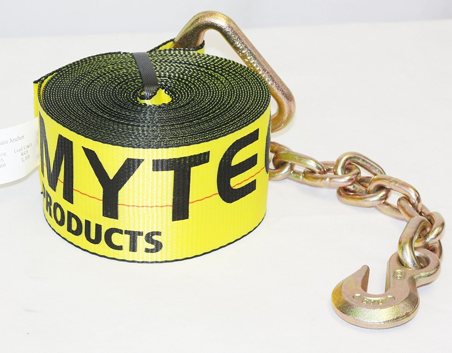 423040 4 x 30 Cargo Winch Strap with Chain Anchor Kinedyne
