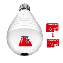 Wi-fi IP Light Bulb Security Camera