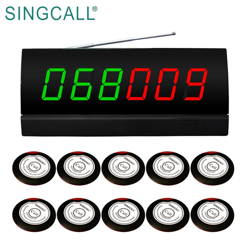 SINGCALL wireless restaurant bellen paging-systeem