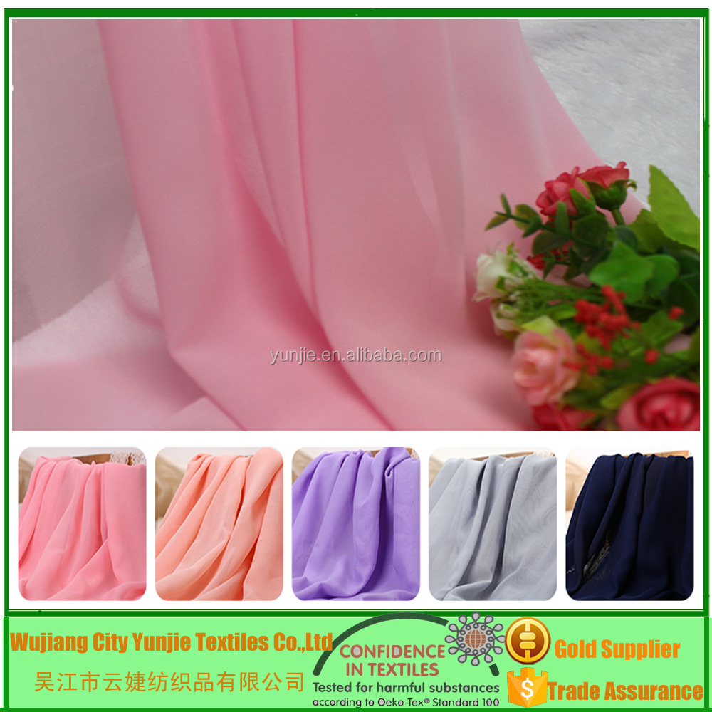 100% Polyester Chiffon Fabric Price Per Meter