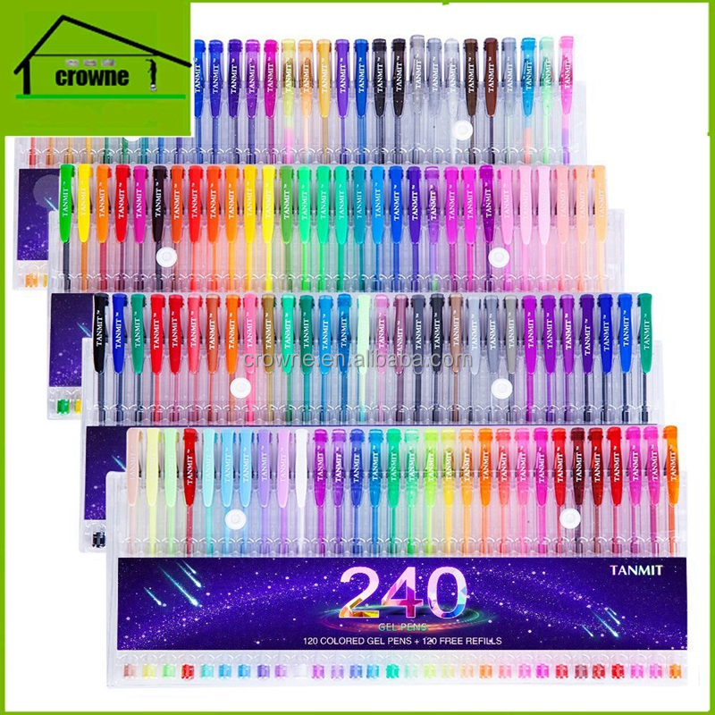 Advertising Drawing 120 colors gel pen Set Pack 120 Free Sample Provided