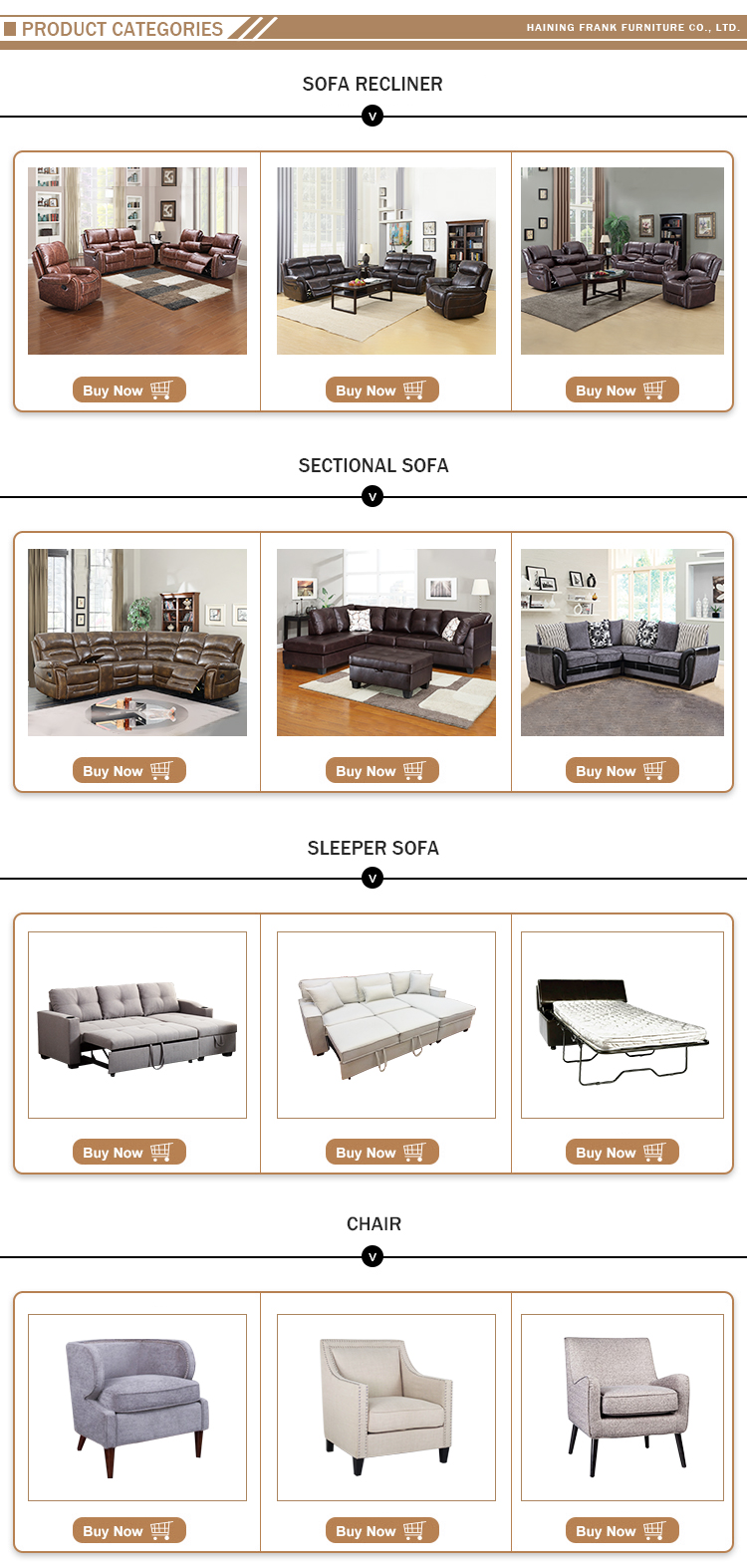 Frank Furniture 2019 New design modern style Air leather 7 seater sectional couch corner sofa