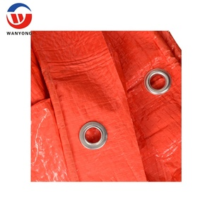 double orange 180gsm heavy duty truck canvas tarpaulin material
