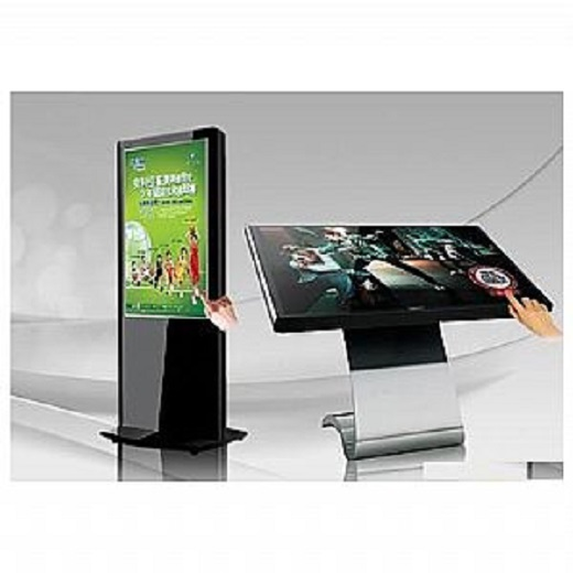 Touchscreen Windows 55 inch lcd advertising player free standing lcd tv stands