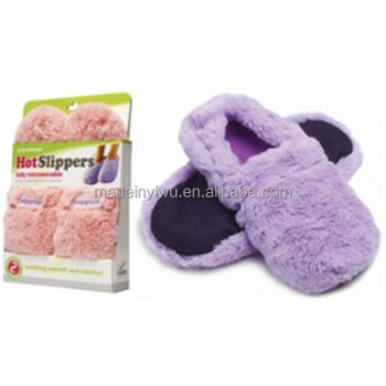 Hot Microwave Heated Slippers Shoes Women Slipper
