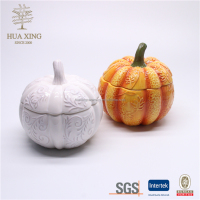 harvest pumpkim ceramic cookie jar