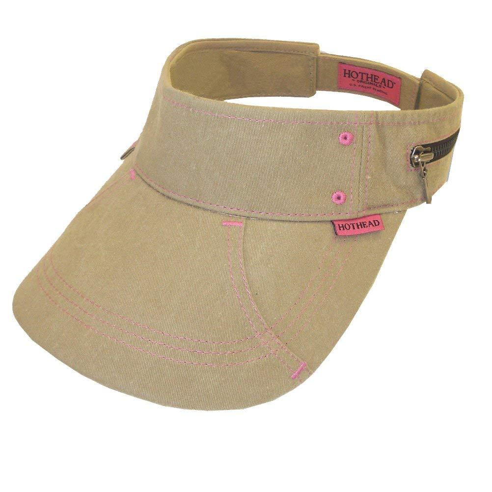 Get Quotations · Hothead Large Brim Sun Visor Hat - Biowash in Khaki c81b40394fb7