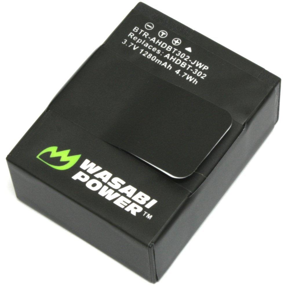 Wasabi Power Battery for GoPro HERO3, HERO3+ and GoPro AHDBT-201, AHDBT-301, AHDBT-302 (1280mAh)