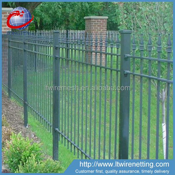 Morden garden decorative antique wrought iron fence panels,wrought iron fence/picket fence