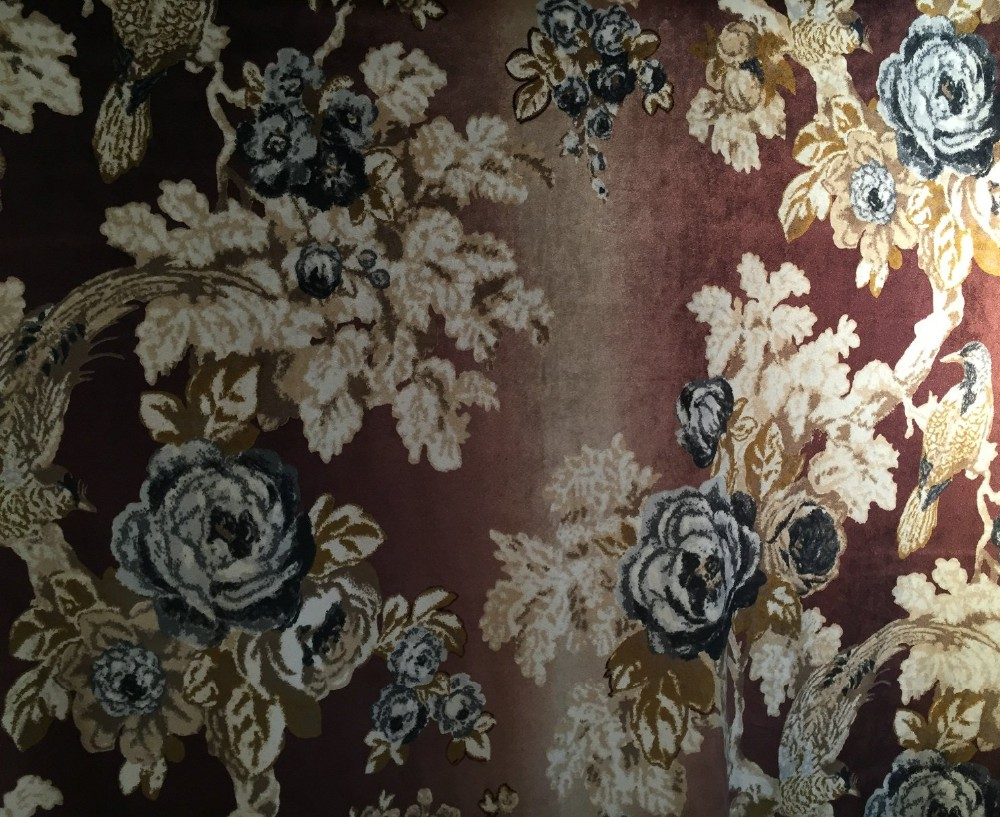 Polyester Material Digital Print Velvet Fabric For Sofa Cover