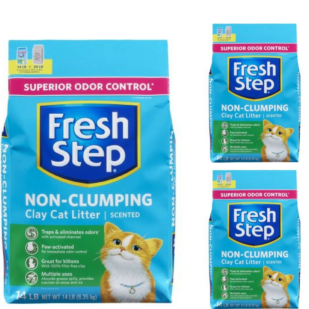 Fresh Step Non Clumping Clay Cat Litter,Scented,14 lbs 3