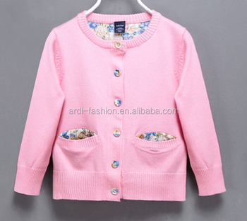 208f640e4cf3 Trendy Flower Floral Button-down Hand Knitting Baby Girls Fancy ...