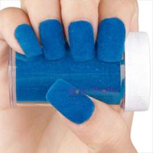 Fun Flocking Velvet Powder Manicure Nail Art Nail Polish Bright Blue 4464