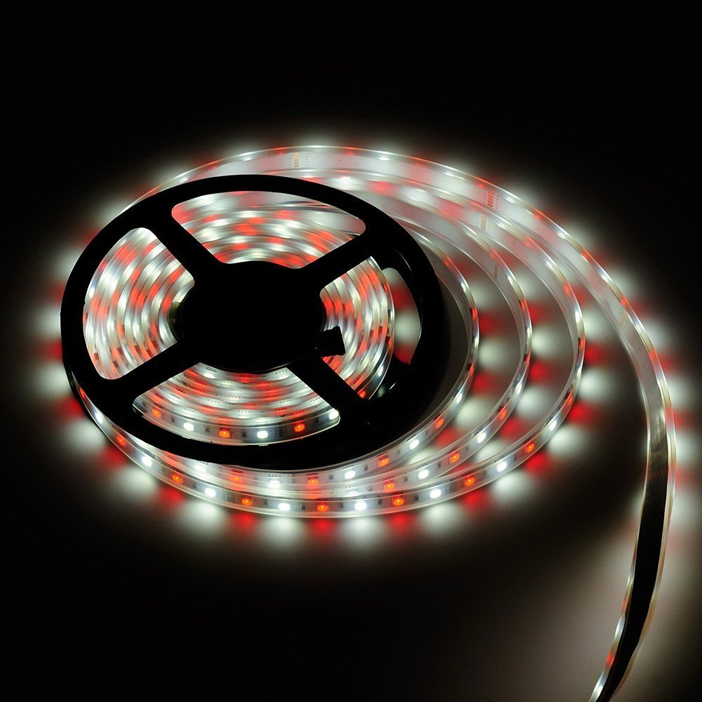 BTF-LIGHTING 16.4ft 5M 5050 RGBW RGB+Whtie strip Mixed color 60leds/m IP67 Waterproof in Tube 300LEDs Ribbon Lamps Multi-colored LED Tape Lights