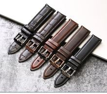 High classic plant oil hand make genuine leather watch strap with interchangeable pin