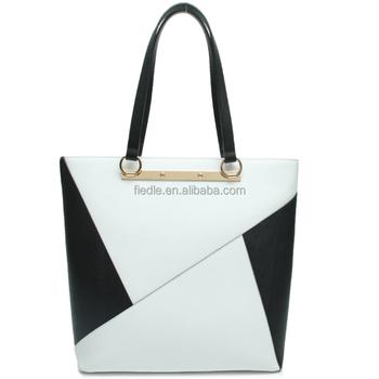 aade79e6e1291 CSYH287-001 ile 2015 siyah beyaz üçgen deri çanta fiedle yeni çanta  koleksiyonu bayan çanta