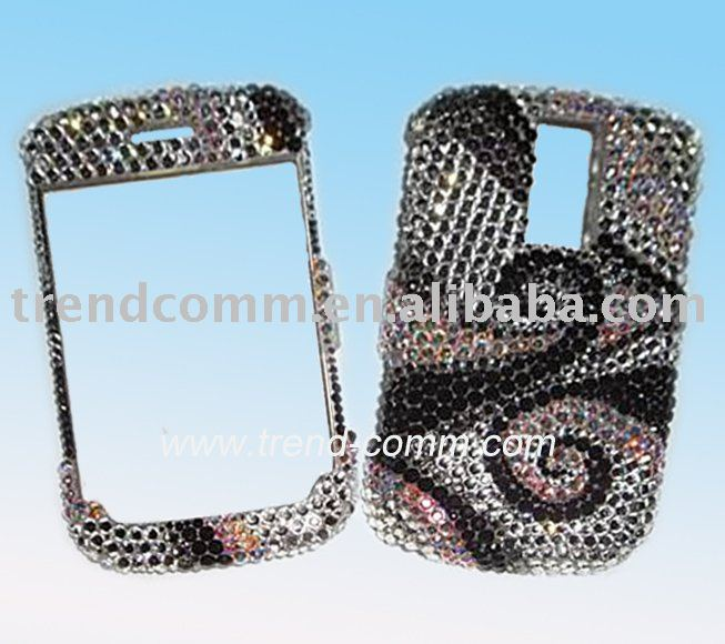 3D spark bling case for blackberry 9000