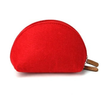 Wholesale custom wool felt zipper cosmetic case