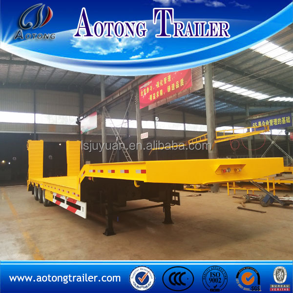 Payload 30-80 tons low bed trailer, lowboy trailer dolly sale