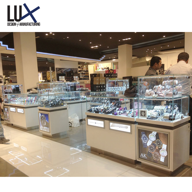 Best Quality Luxury Retail Watch Shop Decoration Design With Display Furniture