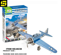 puzzle Paper cottage World war ii aircraft Christmas gift DIY toys 3D puzzle wholesale