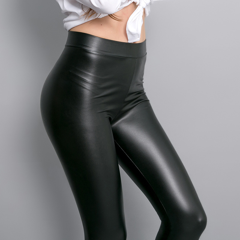 Cool Style Fashion Ladies Overall PU Leather Pants