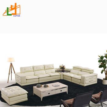 Latest Design Leather Sofa Set Modern