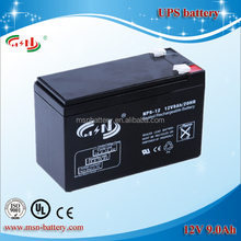 MSN battery 12V 9Ah guangzhou factory supply directly