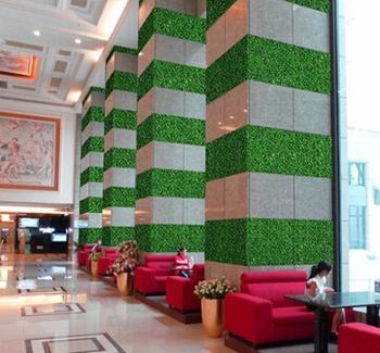 Fake artificial grass wall decor for modern wall decor for Artificial grass decoration crafts