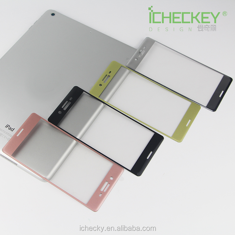 3D full coverage mobile phone use glass screen protector beautiful silver tempered glass screen protector for Sony Xperia X