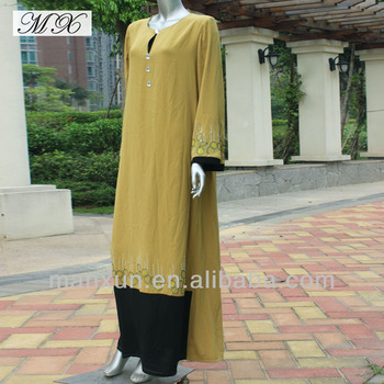 Custom Muslim Hijab Fashion Malaysia Dress Embroidery