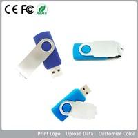 Mini metal USB Disk 8GB 16GB 32GB 64GB rotation USB Flash Drive portable type Memory stick