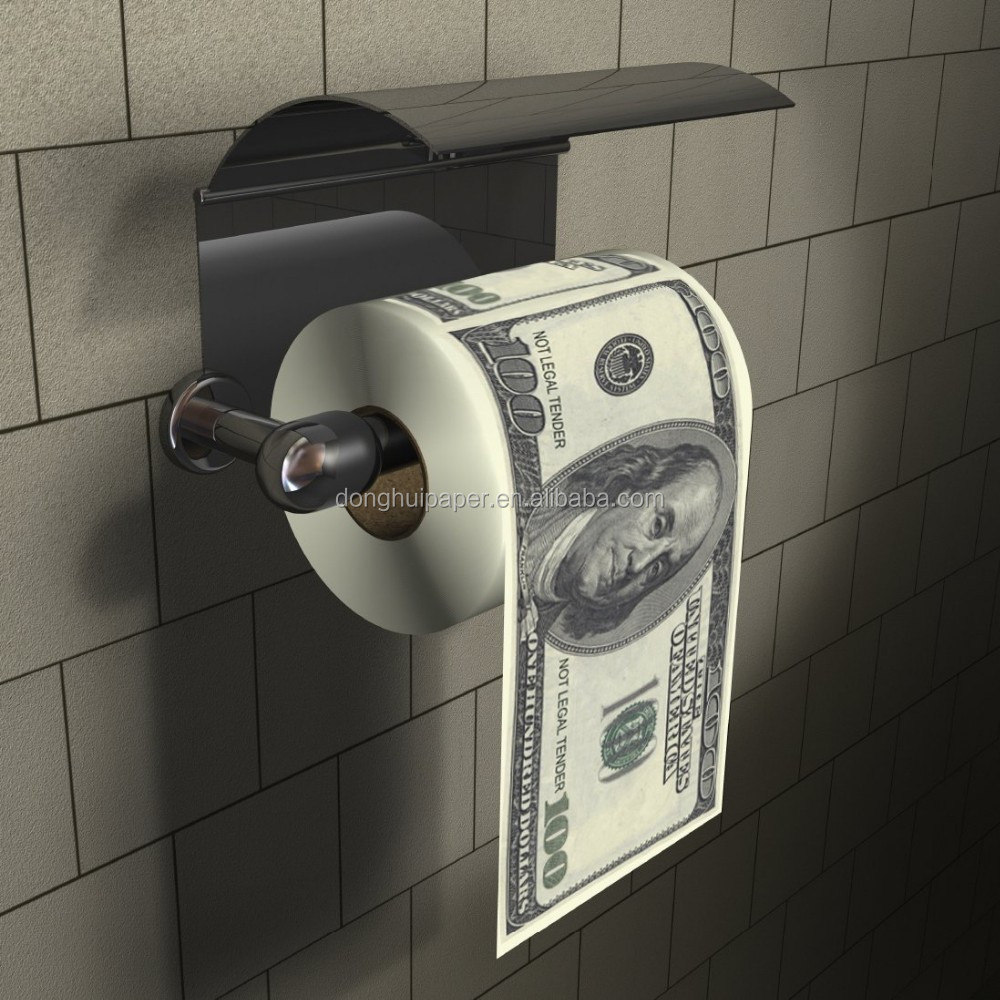 Dollar Toilet Roll-Dollar 100 Bill Toiletpapier Novelty Geld Printned Toiletpapier Papier