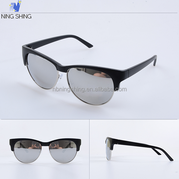 Buy Direct From Germany Trendy Sunglasses Mirror Black Sun Glasses Imitations