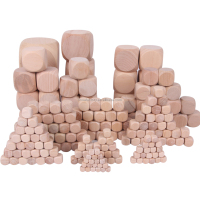 Natural Colorless Dice Bulk Dice Wholesale Blank 1-8 cm Wooden Six-sided Colorless Dice Custom