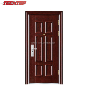 TPS-128 Cheap Metal Iron Apartment Hollow Core Embossed Sheet No Rust Security Steel Door