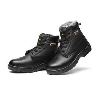 New design cold resistance Genuine leather upper Winter Wool Lining Steel Toe cap safety boots