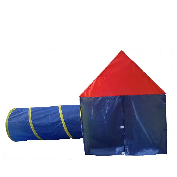 Waterproof polyester mesh net kids play tent house with tunnel