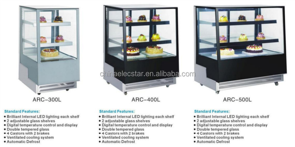 Table Top Freezer Four Sides Countertop Freezer Back Glass Door