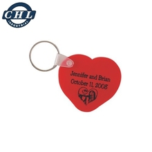 Promotional Cheap Heart Plastic Key Tag, Key Chain, Key Ring