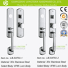 Top Quality Keyed Privacy Door Security Entry Mortise Lever Lock Set SATIN NICKEL