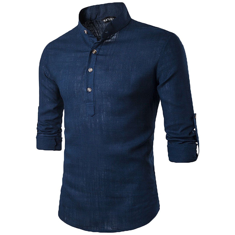 Cheap Grandad Collar Shirts For Men Find Grandad Collar Shirts For